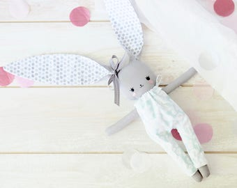 Fabric Toy Bunny. SALE