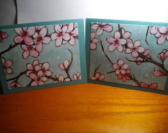 Pink Cherry Blossoms 8-Card Box