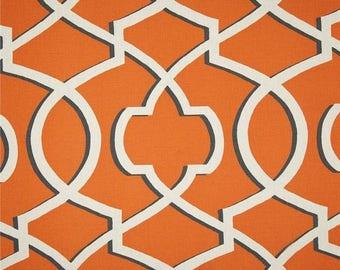 SALE Curtains 2 Curtain Panels Draperies Window Treatments Premier Prints Morrow Orange