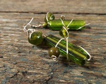 Statement earrings for women, statement earrings, dangle earrings, earrings for women, green earrings, boho earrings, unique earrings, green