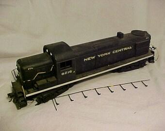 Vintage AHM #8216 New York Central Locomotive Train Engine O Gauge Model Train Set Engine, Man Cave Decor