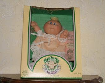 Vintage 1983 Cabbage Patch Doll PREEMIE By COLECO In The Original Box Doll Named Sonia Erina
