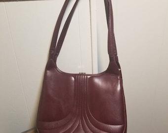 Maroon vintage handbag