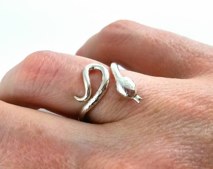Featured listing image: One of a kind sterling silver snake ring