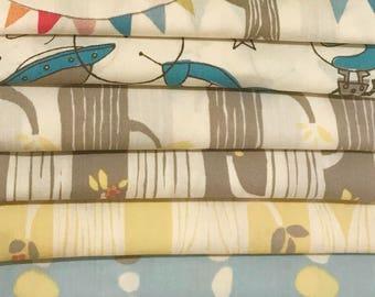 10 Piece Bundle of Birch Organic Fabrics Circa 52