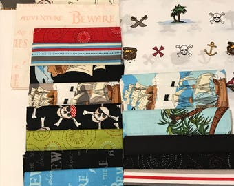 Ahoy Matey! 19 Piece Fat Quarter Bundle and a Set of Twin Sheets
