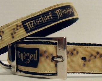 Mischief Managed, Pet Accessories, Dog Collar, Cat Collar, Dog Leash, Key Fobs