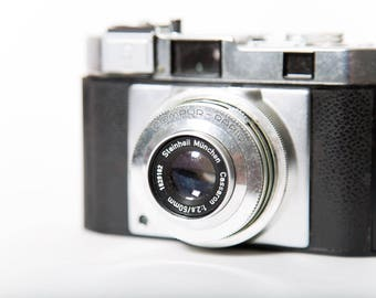 Tower Compur-Rapid 35mm Film Rangefinder Camera 1950s 50mm f/2.8 Original Leather Case