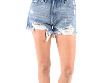 Distressed Shorts/vintageshorts/Made to Order womens/jean shorts/plus size/ boyfriend shorts