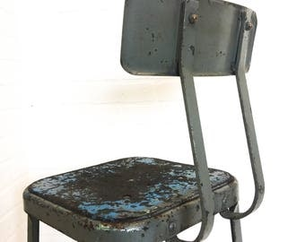 Lyon Industrial Shop Stool Machinist Drafting Chair Metal Furniture Bar Stool