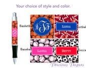 Personalized football pen, soccer pen, baseball pen, basketball pen, coach gift, boys gift,