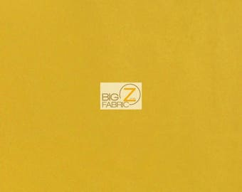 """Microfiber Suede Upholstery Fabric - CANARY - 58"""" Width Sold By The Yard Passion Suede Microsuede"""
