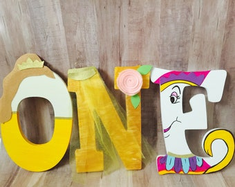 Baby Belle themed wooden letters