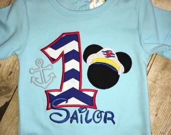 Sailor Mickey Birthday Bodysuit