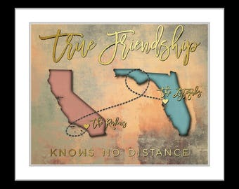 Close friends gifts, valentines day gift for friends, of the family, living far away, moving, long distance friendship, chaka