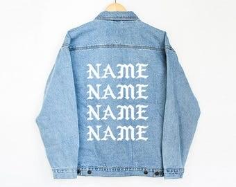 Custom Your Name Pablo Jacket - custom jacket - Denim Jacket- Name Jean Jacket