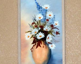 1 Dollar Shipping! Original flower painting