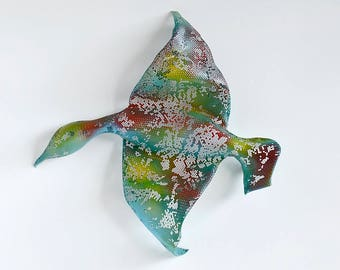 Flying Bird - Home decor - wall sculpture -  wire mesh sculpture - wall hanging - Metal wall art