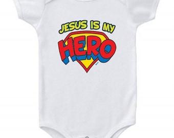 Jesus is My Hero Baby Bodysuit