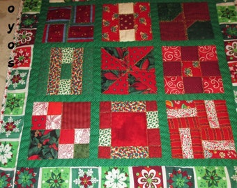 TWELVE DAYS of CHRISTMAS Mini Quilt Wall Art Holiday Home Decor