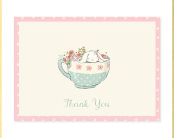 Somebunny Tea Baby Shower Thank You Notes