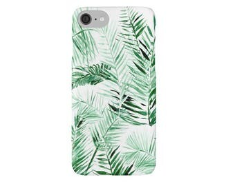 Palm Leaf iPhone Case, leaf iphone 7 case, palm leaf iphone 6, palm leaf case, palm leaf iphone 7, botanical case, palm leaves case