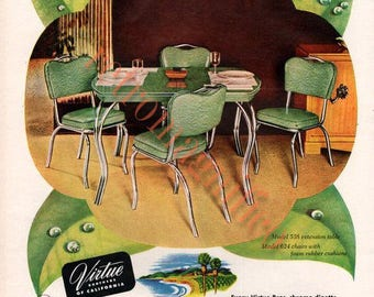 three mid-century chrome dinette images digital downloads for art print, scrapbooking, mixed media, altered art,