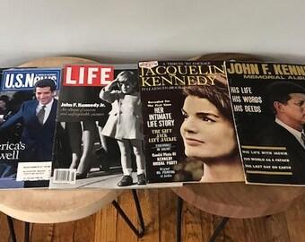 Vintage John F. Kennedy Memorial Album Magazine 1964 Jacqueline Kennedy & JFK Jr Magazines Vintage Periodical