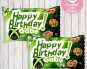 XBox Inspired Cookie Wrappers-Treat Wrappers-Custom Treat Wrappers-Video Game Party-Video Game-PS4 Rice Krispie Treats