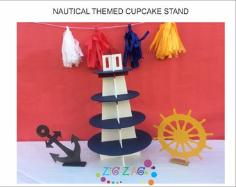 NAUTICAL themed cupcake stand