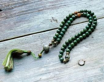 Beautiful jade half mala - wrist mala bracelet