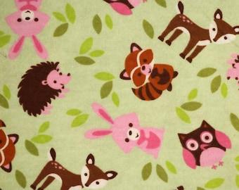 PRE-Order, Forest Animals, Knitting Bag, Flannel, Crochet, Knit, Yarn, Wool, Yarn Storage, Yarn Bag with Hole, Grommet, Handle
