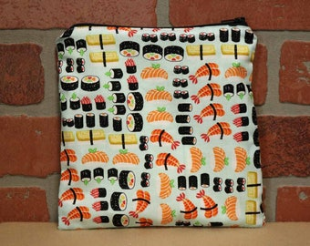 One Sandwich Bag, Reusable Lunch Bags, Waste-Free Lunch, Machine Washable, Sushi, Sandwich Sacks, item #SS76