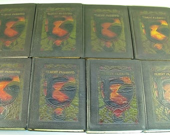 ROYCROFTERS LITTLE JOURNEY'S, Elbert Hubbard, Memorial Editions 1916, 1928, 14 Vol's:  2, 3, 4, 5, 6, 7, 8 (2), 9, 10, 11, 12 (2), 14