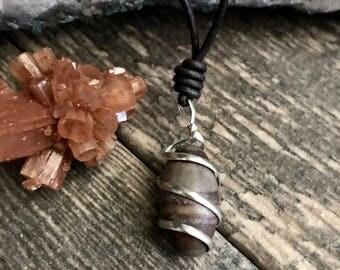 Men's Necklace,Mens Leather Necklace,Shiva Lingam Necklace,Leather Necklace,Mens Jewelry,Mens Necklace,Hindu Jewelry,Shiva Lingam Pendant
