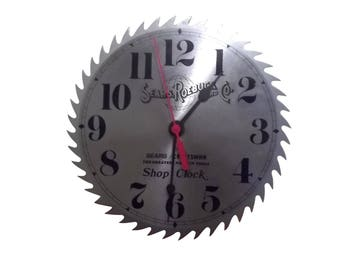 Vintage Sears Roebuck & Co Craftsman Battery Powered Saw Blade Shop Clock,WORKS! Man Cave Tool Decorative Wall Garage Battery Clock
