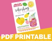 Refreshing Printable Bible Journaling, Margin Stickers, Bookmarks, Sticker Printable