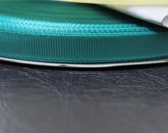 Green grosgrain Ribbon 4 m dark 1 cm