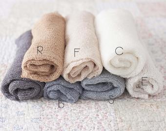 Newborn Stretch Wrap, Neutral Stretch Wraps, Beige Baby Wrap, Grey Newborn Layering Fabric, Great Photography Prop