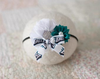 Philadelphia Eagles Headband, Eagles Baby Headband, Great Photo Prop