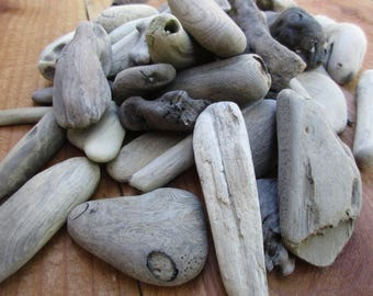 Driftwood for Natural Crafts and Beach Decor-50 Little Pieces, Buy 4 Get 1 Free!