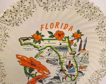 Florida Souvenir Plate Florida Plate
