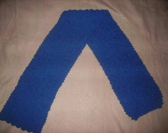Handmade - Double blue nattier tassel scarf