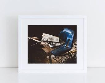 Music Classroom Chair - Urban Exploration - Fine Art Photography Print
