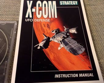 Microprose X-Com UFO Defense - MS-DOS - Strategy Game - Factory Sealed Compact Disc and Manuals 1994