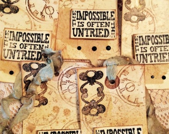 5 Shabby Chic Tags, Affirmation tags, Steam Punk Gift Tags, Shabby Chic Tags, Handmade Tags,Gift Tags,Vintage Style Tags
