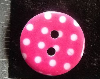 10 BUTTONS PINK AND WHITE 18 MM FOOLISHLY SCRAPB FELT SEWING