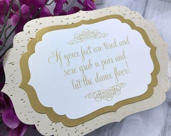 Wedding Flip Flop Sign // Flip Flop Basket Sign // Customized Option