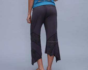 Pixie Yoga pants  Patchwork trouser cotton   3/4  Women