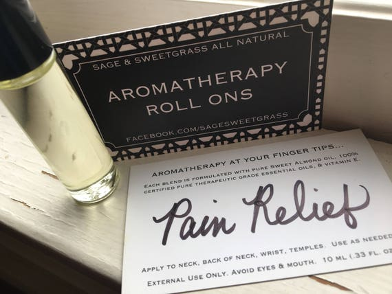 AROMATHERAPY ROLL-ON {Essential Oil Therapy To Go, 10 ml Glass Roll on, Pain Rx, Immunity, Relax, Breathe, Focus, Stress, Custom}